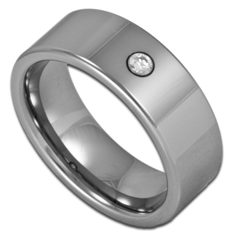 simulated bling cheap tungsten rings